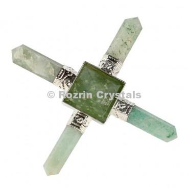 Green Aventurine  pyramid Healing Generator