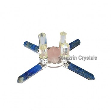 Lapis and Quartz Pyramids Energy Healing Generator