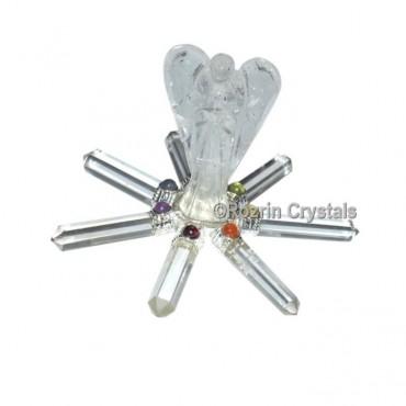 Crystal Quartz Angel Chakra Healing Generator