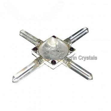 Crystal Quartz Concial Pyramid Healing Generator