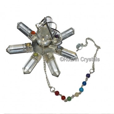 Crystal Quartz Energy Healing Generator with chakra chain