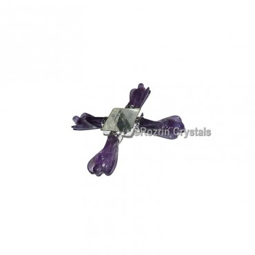 Amethyst Angel with Crystal Pyramid Energy Generator