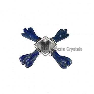 Lapis Lazuli Angel with Crystal Pyramid Energy Generator
