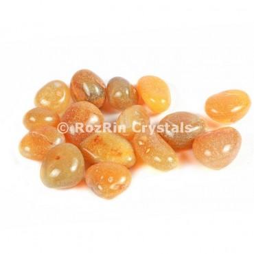 Yellow Carnelian   Tumbled Stones