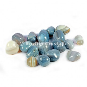 Banded Mix Agate   Tumbled Stones