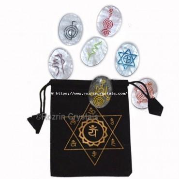 High Quality 7 symbol crystal reiki Healing Set
