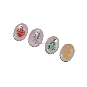 Top Quality Rose Quartz Healing Reiki Set in Best Pice