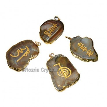 High Qulity Electoplated Slices Pendant reiki Set For Healing