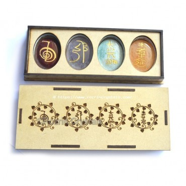 Top Quality Reiki healing oval set with gift box
