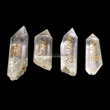 Wholesale Rate Crystal quartz natural reiki set