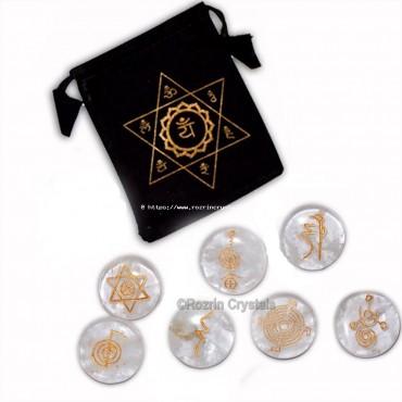 Wholesale Rate Crystal quartz round reiki healing set