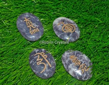 Lepidolite Usui Reiki Healing Set