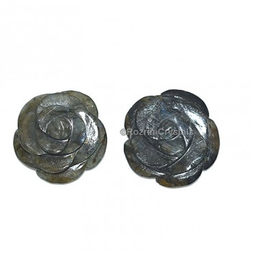 Labrodrite Decorative Carved Gemstone Rose