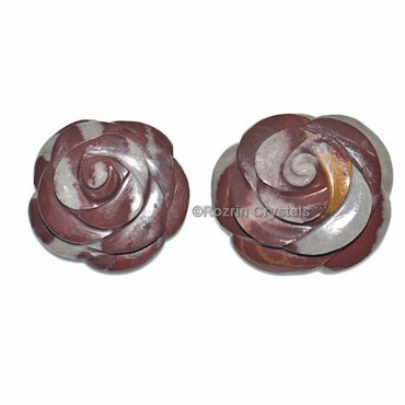 Narmada Stone Decorative Carved Gemstone Rose