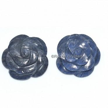Blue Aventurine Decorative Carved Gemstone Rose