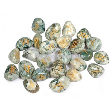 Tree Agate Rune Set