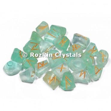 Green Flurite  Rune Set