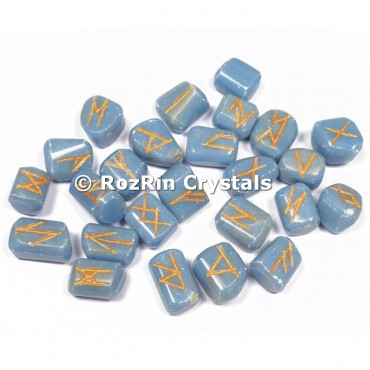Angelite  Rune Set