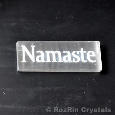 Selenite Namaste Stick