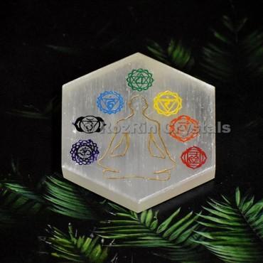 Selenite Sanskrit  Budha Plate