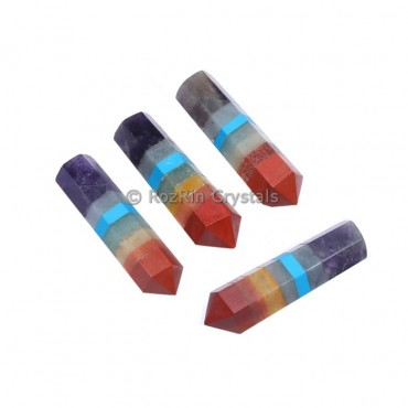 7 Chakra Bonded Agate Pencil Point