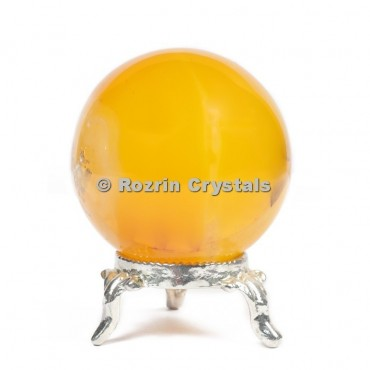 Yellow Onyx Spheres