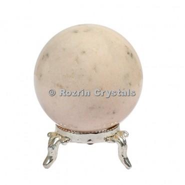 Cream Moonstone Spheres