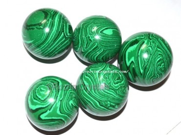Synthetic Melachite Spheres