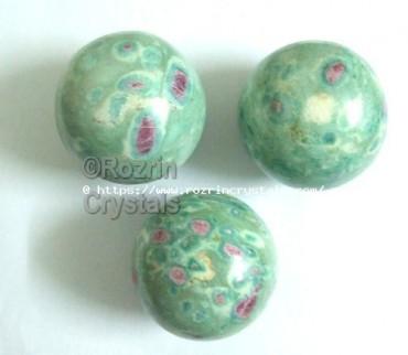 Ruby Fuchsite Spheres