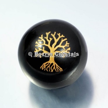 Black Obsidian Tree of life Spheres