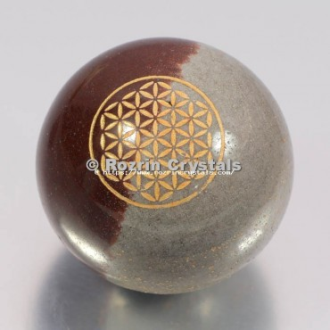 Narmada Lingam Flower Of Life Spheres