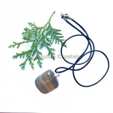 Multi Fluorite Tumbled Stone Necklace