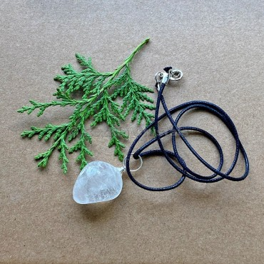 Crystal Quartz Tumbled Stone Necklace