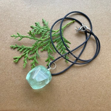 Green Fluorite Tumbled Stone Necklace