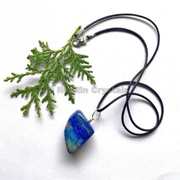 Lapis Lazuli Tumbled Stone Necklace