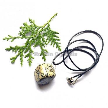 Dalmatian Jasper Tumbled Stone Necklace