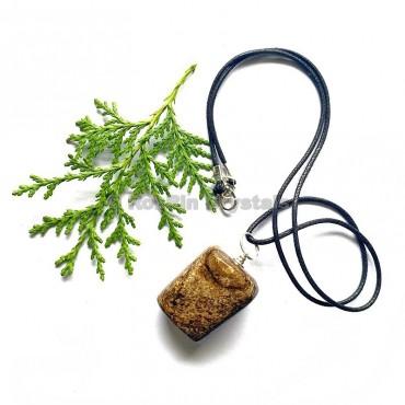 Bronzite Tumbled Stone Necklace