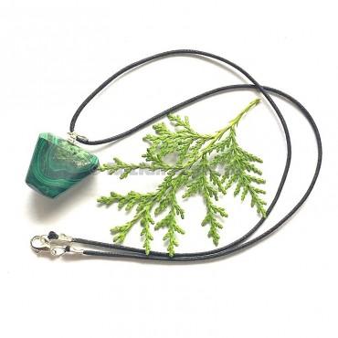 Malachite Tumbled Stone Necklace