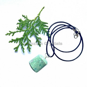 Ruby Fuchsite Tumbled Stone Necklace