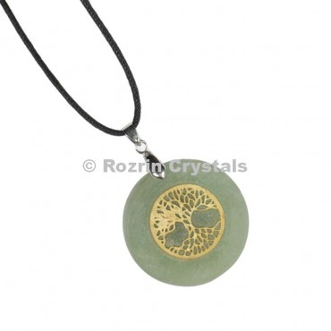 Green Aventurine Flower Of Life Pendant