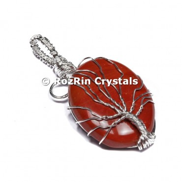 Red Jasper Tree Of Life Pendant