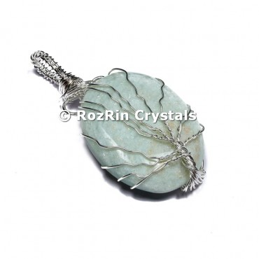 Amazonite Tree of life Pendants