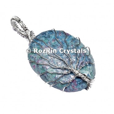 Ruby Zoisite Tree Of Life Pendant