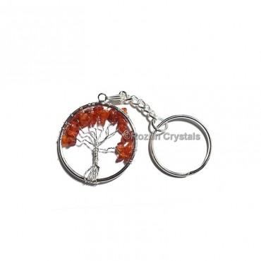 Carnelian Tree Of Life Keychain