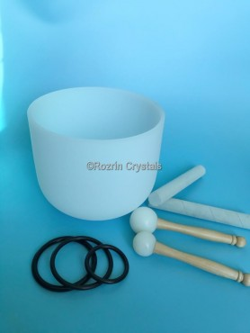 Crystals singing bowl