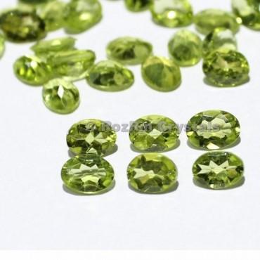 Natural Peridot Oval Faceted Gemstone  Peridot Cut Stone Peridot Gemstone Size 7x5 mm Oval Loose Green Peridot Faceted