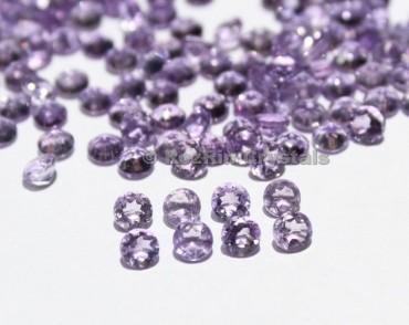 Natural Amethyst Faceted Gemstone, 4 mm Purple Color Calibrated Natural Amethyst Gemstone Round Shape