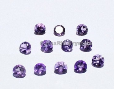 Natural Amethyst Faceted Round Cabochon,5mm,Natural Amethyst Calibrated Cabochon,Natural Amethyst Gemstone Cabochon