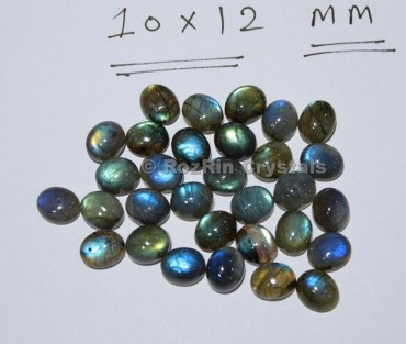 Natural Blue Flash Labradorite Cabochon Gemstone, Size 6x8mm to 13x18mm Multi Fire Calibrated Cabochon Wholesale Lot Oval Shape