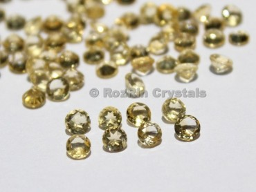 Natural Citrine Faceted Gemstone, 4 mm Yellow Color Calibrated Natural Citrine Gemstone Round Shape